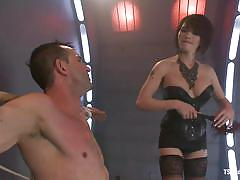 Gay blowjob and suffocation after punishment