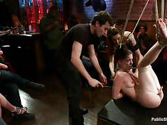 bondage, bdsm, big ass, spanking, gang bang, hanging, public, natural tits, tied up, brunette milf, bastonnade, jessi palmer, james deen, public disgrace, kinky dollars