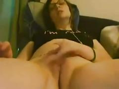 Teen play with her clitoris