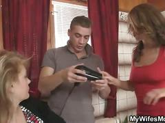 Bathroom banged wife's mom