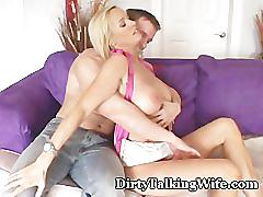 Dirty talking wife bangs friend