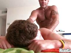 Rubgay hunk ass cumshot massage