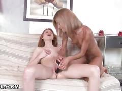 Lesbian black dildo anal training