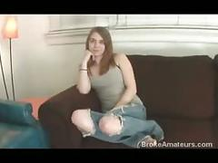 Two teen amateur ginger girls