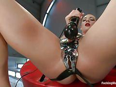 Bailey blue masturbating solo with her big black vibrator