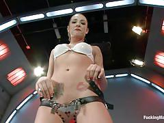 Bailey blue masturbating solo with her big black vibrator