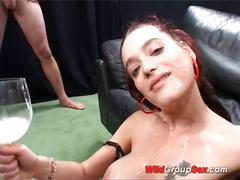 amateur, anal, big tits, cumshot, gang bang, pussy, red head, 5 on 1, 6 on 1, anal sex, assfucking, beef curtains, big boobs, big natural tits, big pussy, bukkake, busty, cum cocktail, freckles, gaping hole