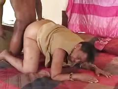 Slut grandma having fun with black student. amateur older