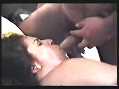 Cuckold husband films wife while she fucks a friend