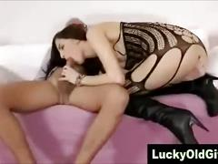 Older british guy fucks young slutty girl in high heels