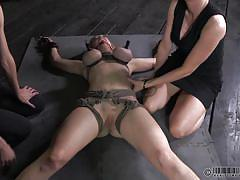 Tied and punished by her gfs