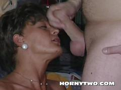 Sexy slim & skinny wet mature pussy sucking cock for fun to
