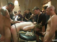 Gay gang bang with humiliation