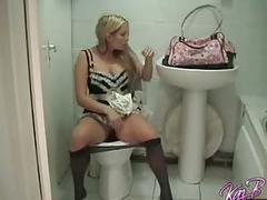 French maid costume play for british pornstar kaz b