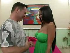 Latina babe diamond kitty fucked hard by hunk dude