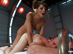condom, anal, big tits, kinky, bound, from behind, bed, ropes, tranny domination, brunette shemale, mulatto, jesse carl, yasmin lee, ts seduction, kinky dollars