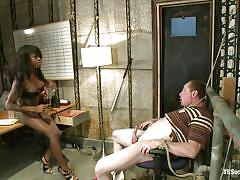 handjob, bdsm, interracial, tied, punishment, domination, ebony shemale, gay blowjob, on chair, suffocation, big red, bambi prescott, ts seduction, kinky dollars