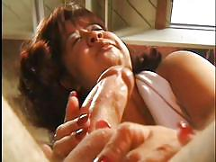 blowjob, brunette, garage, cock sucking, hairy dick, pussy  fingering, mature midget, bald man, tinnie tyler, ed powers, midget porn pass, pimproll