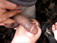 Busty asian in hot anal threesome