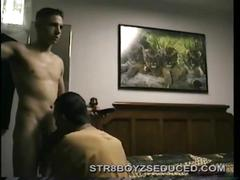 Straight dude adam gets his cock sucked.