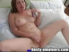 Busty babe ginger on hot solo