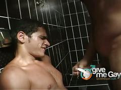 Latino buddies fucking in the shower