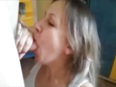 Homemade wife blowjob & facial