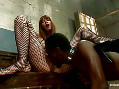 Red head punishes black man