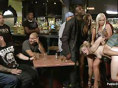 fisting, big ass, gang bang, public, humiliation, vibrator, from behind, blonde chick, pub, john strong, alice frost, public disgrace, kinky dollars