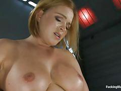 big ass, solo, kinky, big boobs, fucking machine, vibrator, moaning, blonde milf, bouncing boobs, rubbing clitoris, krissy lynn, fucking machines, kinky dollars