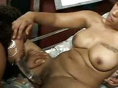 Hot black lesbians sucking each others feet!!!