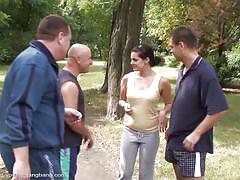 Awesome foursome with svetlana outdoors