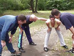 Awesome foursome with svetlana outdoors