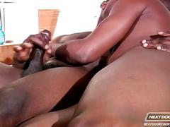 Two black hunks enjoys great anal
