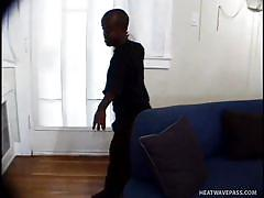 Black midgets having a nice sex