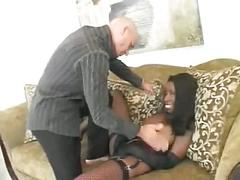 Anal ebony interracial