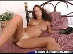Busty wendy has the shaved pussy that she adores