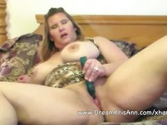 Big tit bbw kris ann toys her pussy