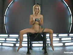 small tits, blonde, solo, stockings, fucking machine, dildo, tatoo, vibrator, moaning, blonde babe, rodeo sex machine, cameron canada, fucking machines, kinky dollars