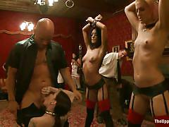 small tits, bondage, bdsm, skinny, gangbang, stockings, lingerie, ass spanking, deepthroat blowjob, tattooed bunette, lyla storm, derrick pierce, dylan ryan, krysta kaos, maestro stefanos, the pope, the upper floor, kinky dollars