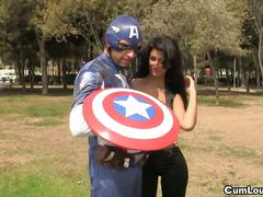Captain america fucks the black widow susy gala