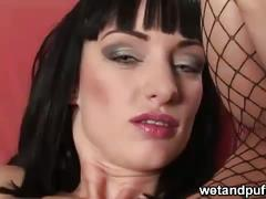 Sofia valentine masturbates with bottle