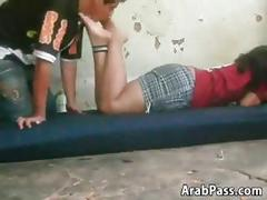 Arab feet being worshipped by a horny guy