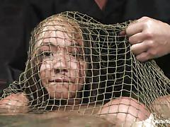 Unfortunate yet sexy keeani lei is caught in the net!