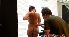 Young ang shy french girl with pigtail, casting