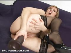 Brutal ass hole and cunt hole toying