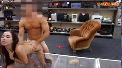 Sexy amateur coed nailed at the pawnshop