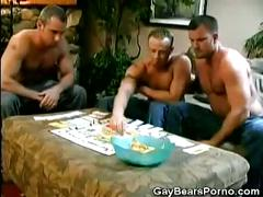 Hot gay cubs playing game and getting naked