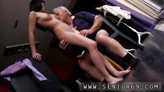 Horny senior bruce spots a ultracute damsel sitting behind a sewing machine