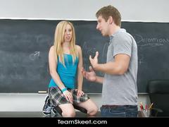Schoolgirl sofie carter spreads legs